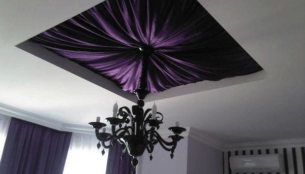 драпировка потолка текстилем