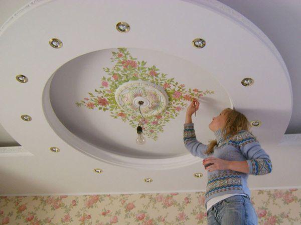 современная потолочная роспись
