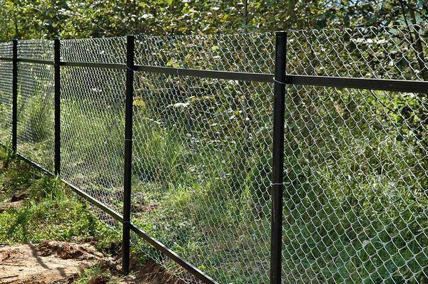 забор сеткой
