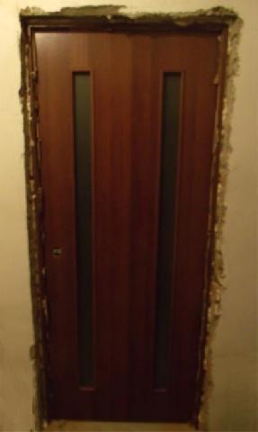 Межкомнатная дверь после установки