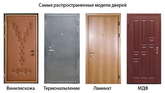 Внешний облик входной железной двери