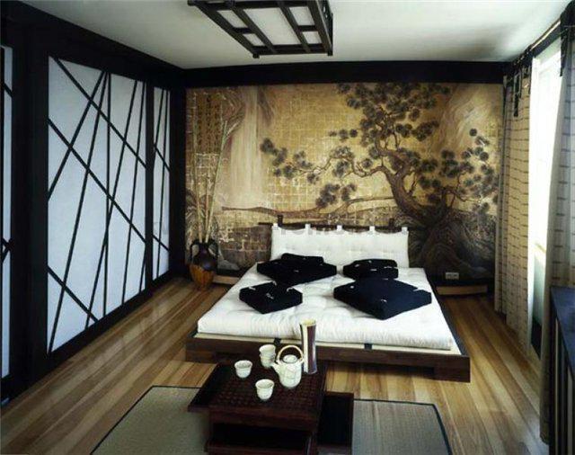 Фото: Спальня в темных тонах