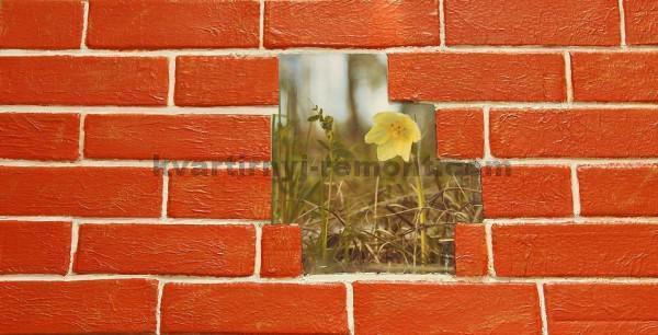 Фото: Декор под киприч покрытый лаком