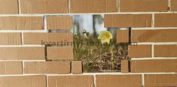 Фото: Обклееная кирпичем стена