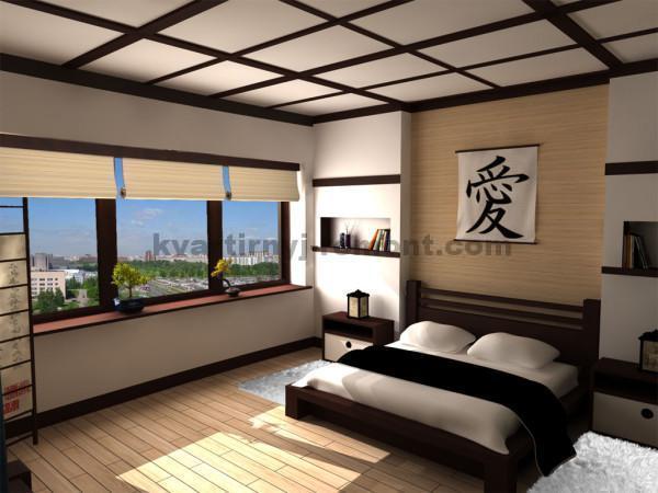 Фото: Спальня в черно-белых тонах