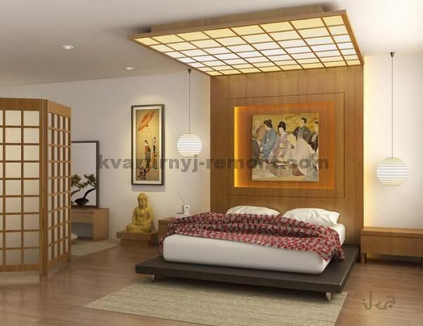 Фото: Спокойный дизайн спальни в восточном стиле