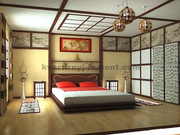 Фото: Спальня в японском стиле