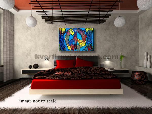 Фото: Яркая и захватывающая спальня в японском стиле