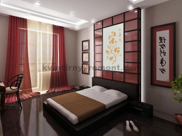 Фото: Добавили немного цвета в японскую спальню