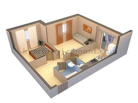 Фото интерьера квартиры в компьютерной программе