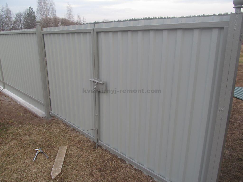 Тёплые металлические ворота своими руками фото 958