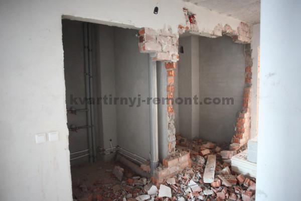 Фото снесенной стены в квартире