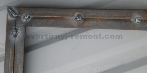 Фото усиления каркаса ворот стальной полосой