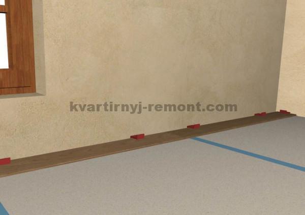 Фото 3 шага укладки досок ламината