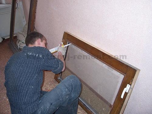 Силиконим отреставрированное деревянное окно