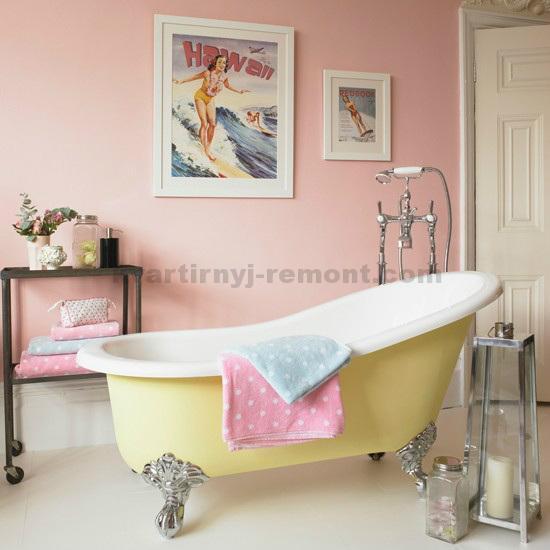 Яркие цвета в интерьере ванной