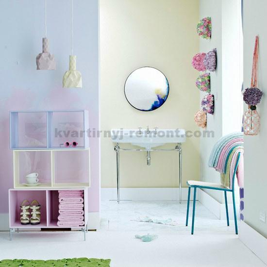 Игривые цвета в ванной