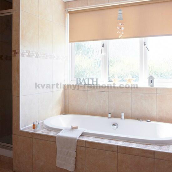 Персиковая ванная комната