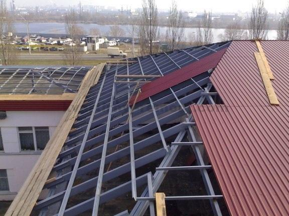 Крыша для бани из профнастила своими руками фото 777