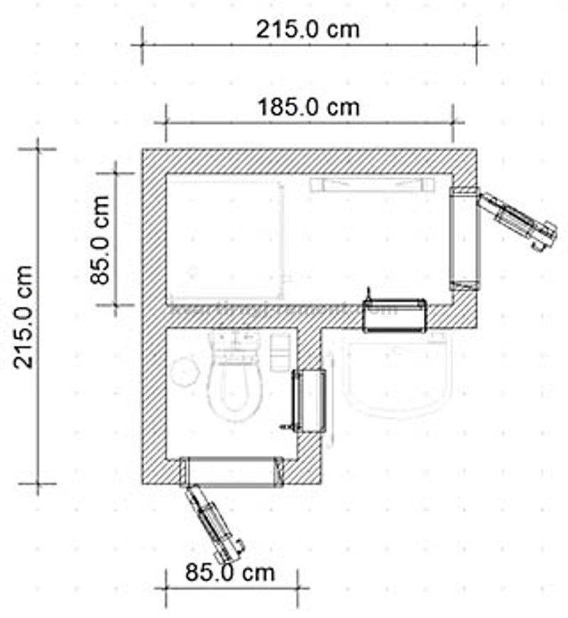 План хозблока углового: фото