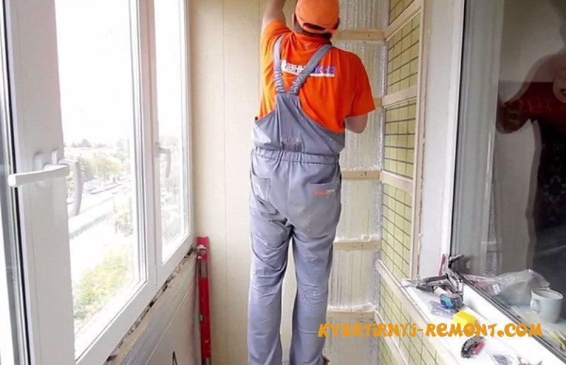 Как правильно утеплить балкон изнутри своими руками.
