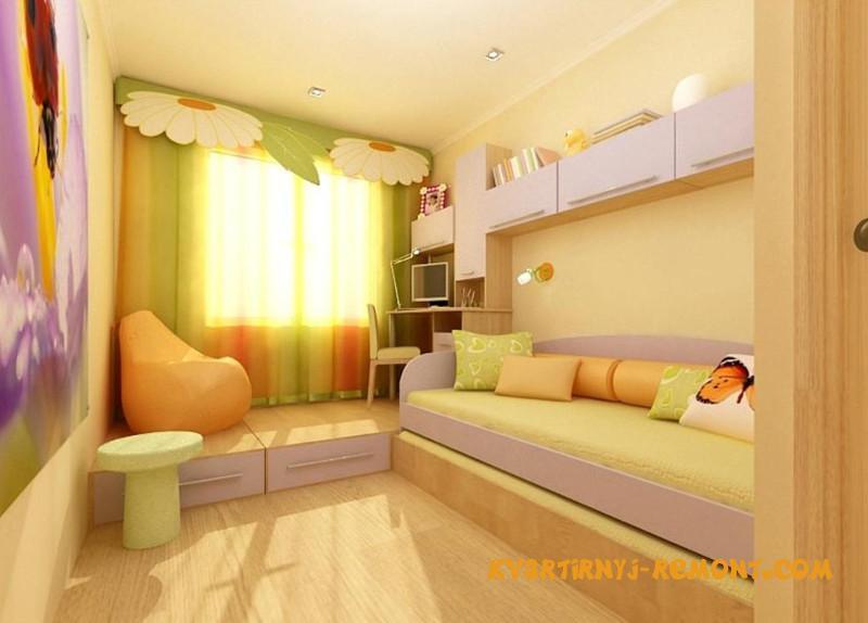 Дизайн детской спальни 6 квм