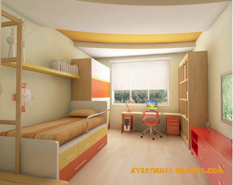 dizayn-potolka-v-detskoy-komnate-2
