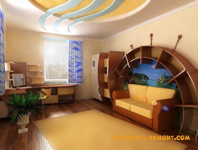 dizayn-potolka-v-detskoy-komnate-3
