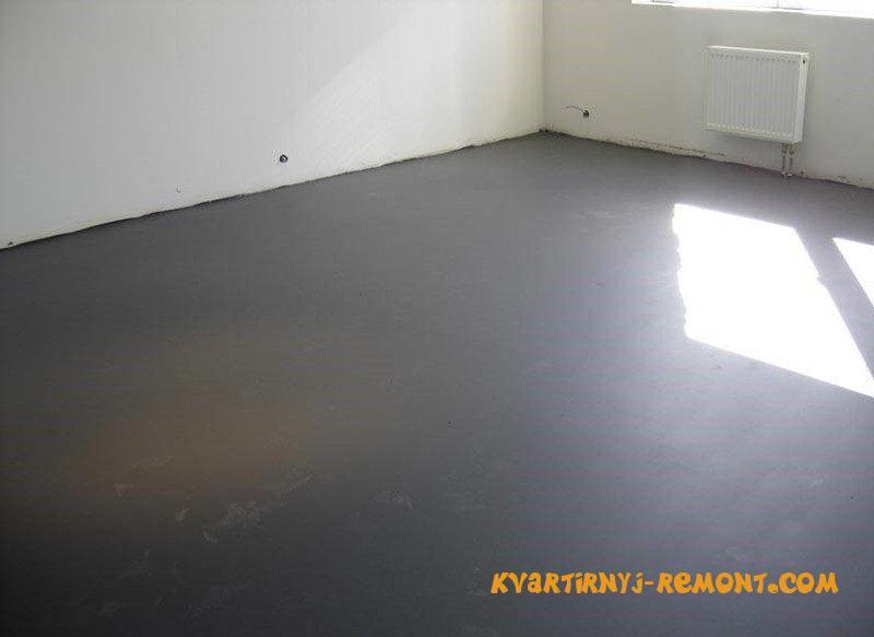 фото идеальной бетонной стяжки на полу