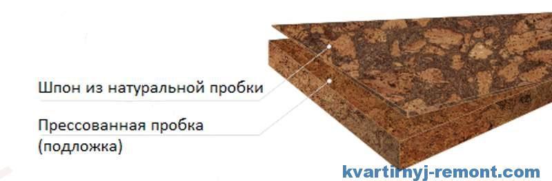 Структура пробковой доски