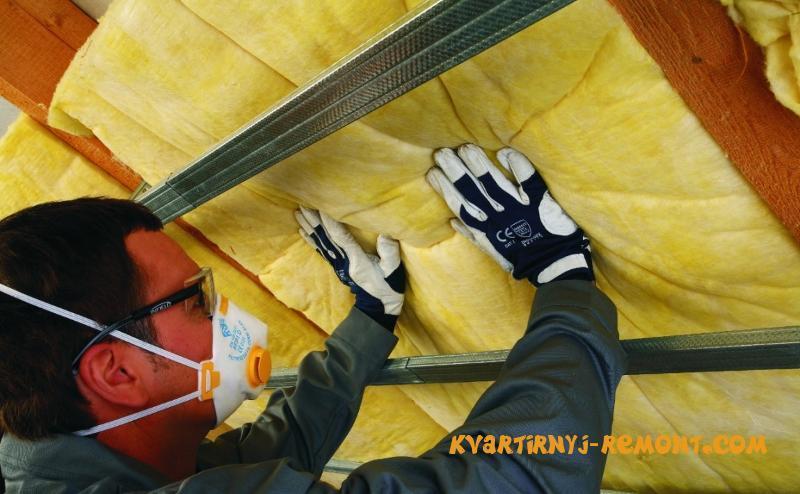 Защита при работе с стекловатой