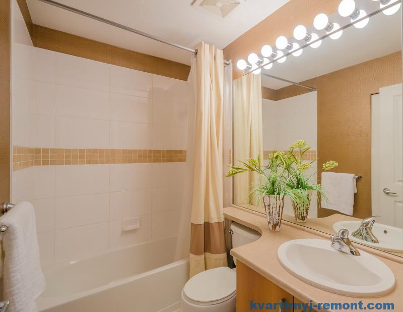 Светлый дизайн в ванной