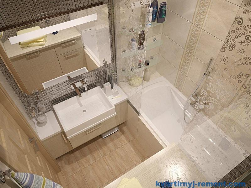 Красивый интерьер маленькой ванной