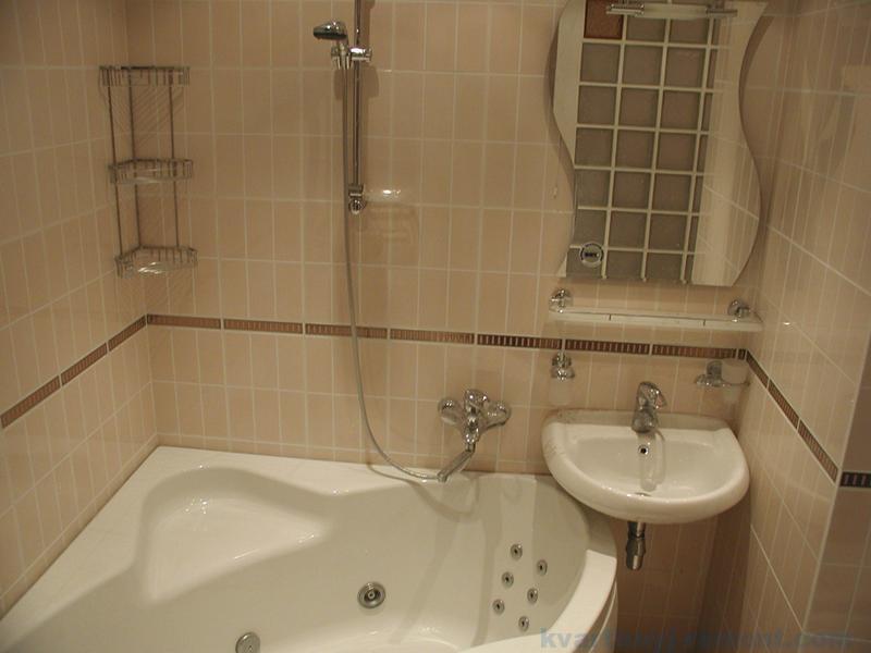 Интерьер с угловой ванной