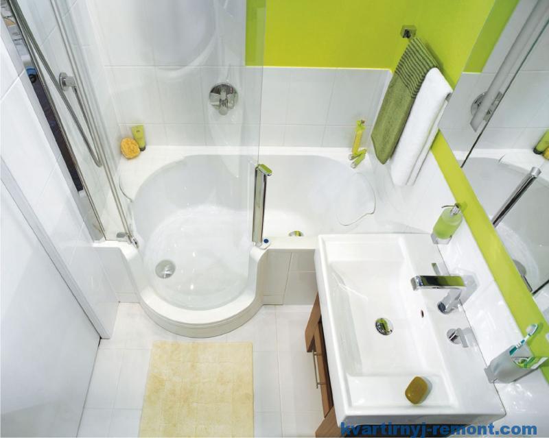 Компактная дизайнерская ванная