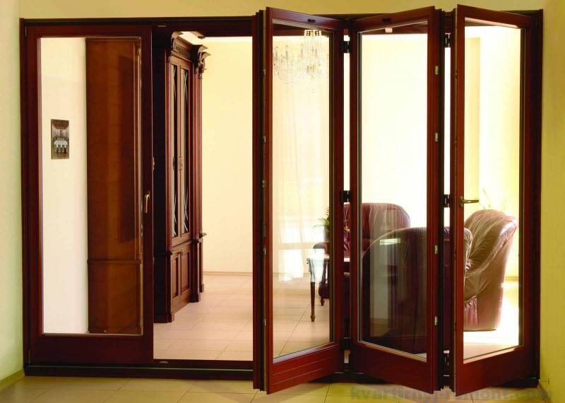 Межкомнатная дверь-гармошка в кабинет