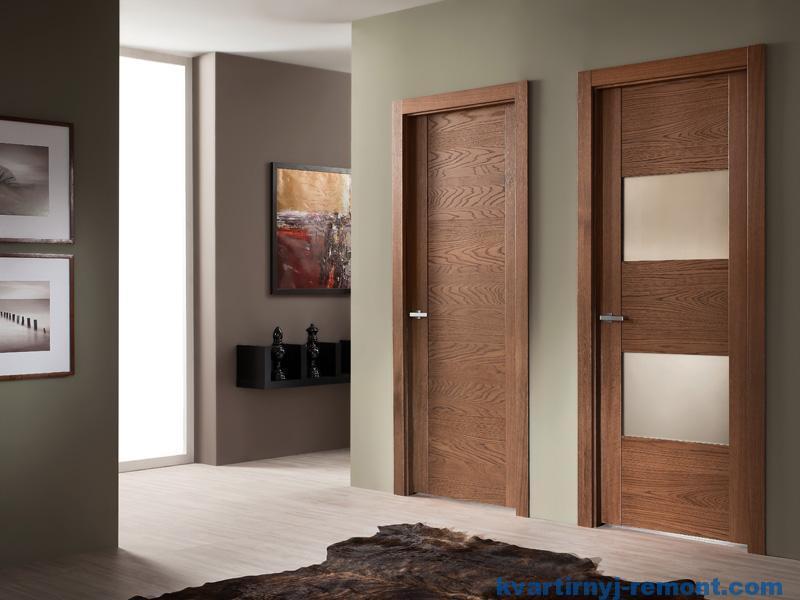 Вид ла+минированной двери в интерьере