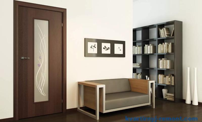 Современный интерьер с ламинированной дверью
