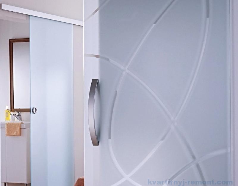 Матовое и пескоструйное стекло в межкомнатную дверь