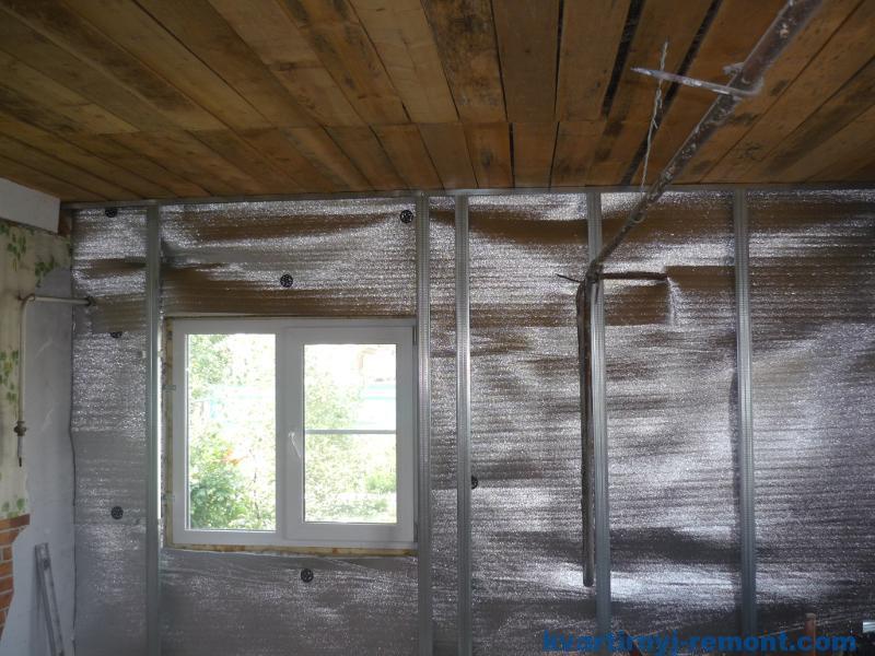 Утепленная стена в доме