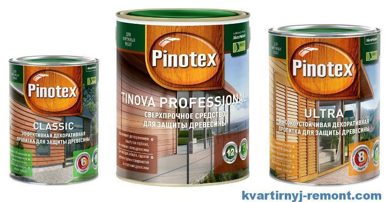 Защита дерева с Пинотекс