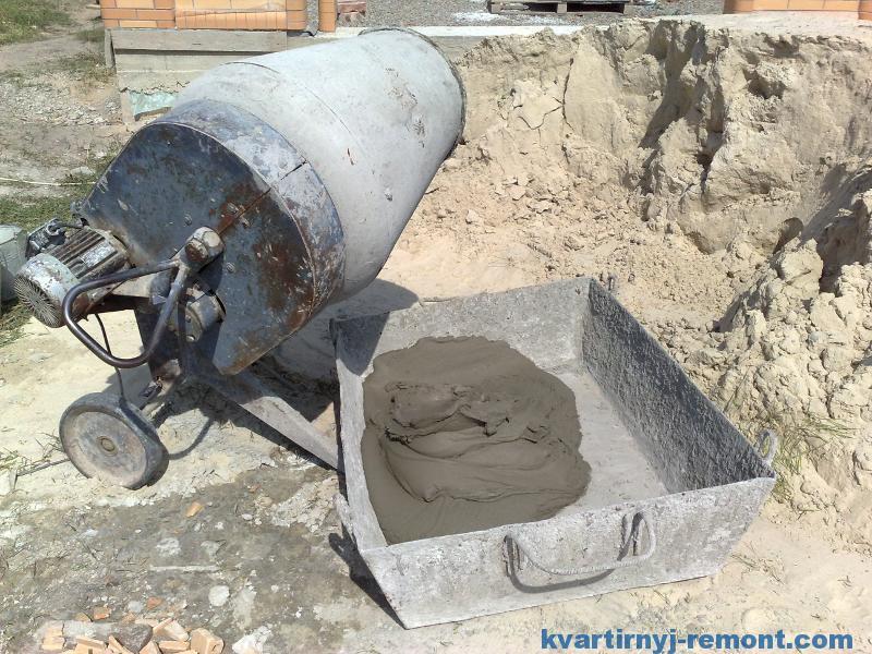 Раствор из бетономешалки