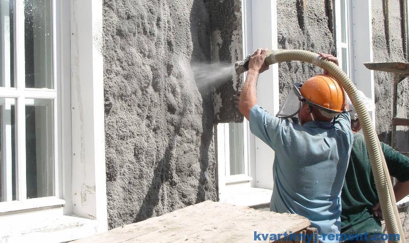 Мокрое утепление стен