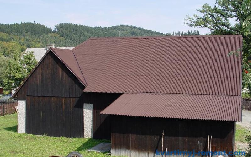 Крыша из ондулина