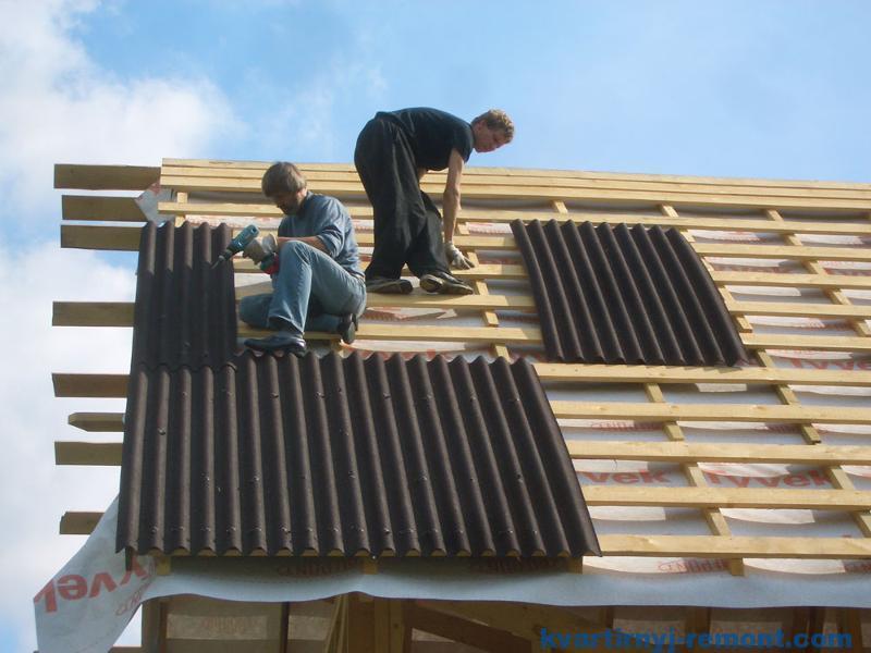 Укладка одулина на крышу