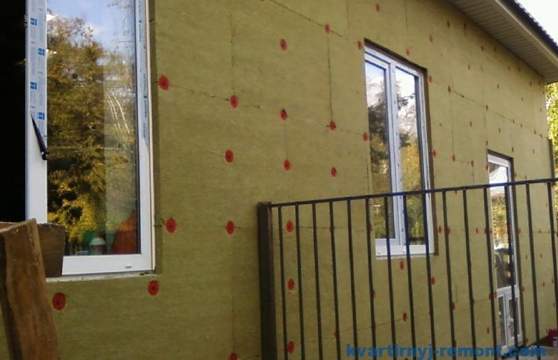 Утепление фасада дома