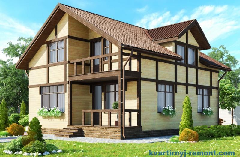 Каркасный дом для большого участка
