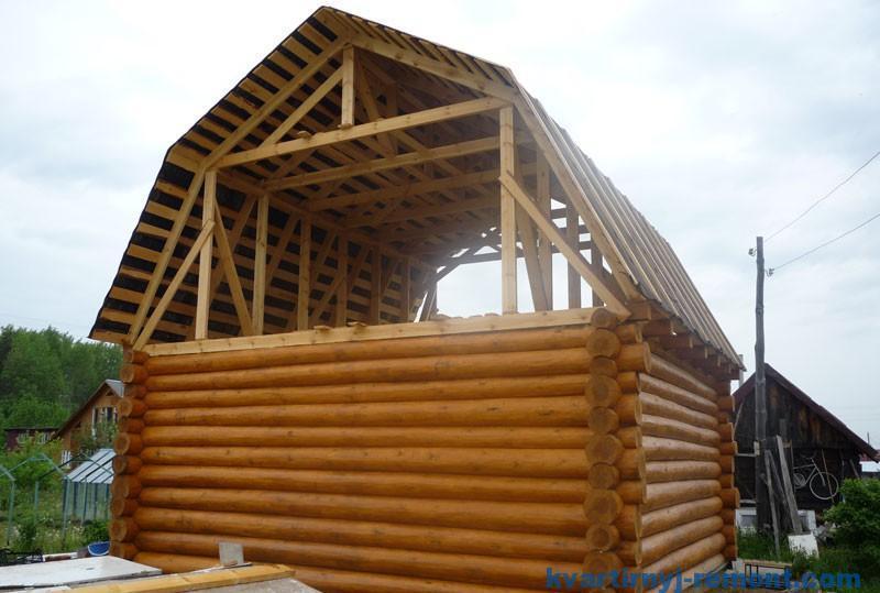 Строительство двухскатной ломаной крыши