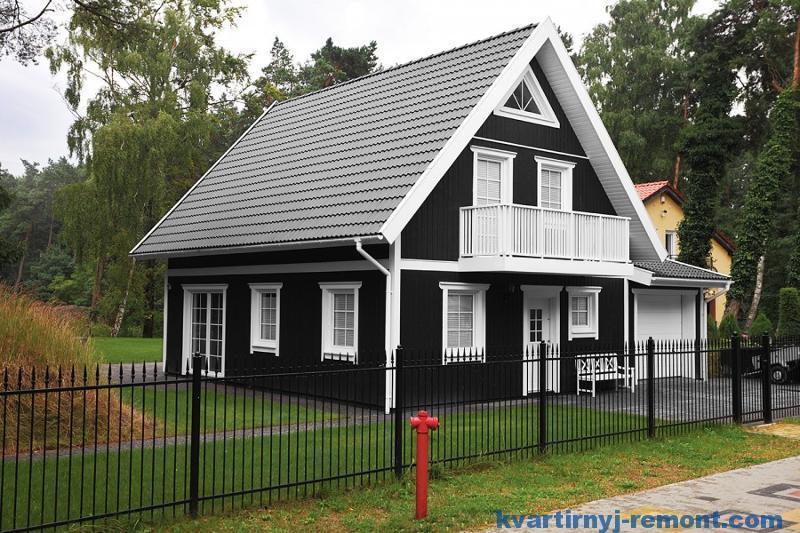 Двухскатная мансардная крыша