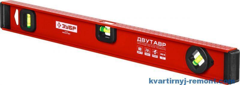 Уровень строительный ЗУБР 4-34583-060, МАСТЕР, двутавровый, усиленный, анодированный